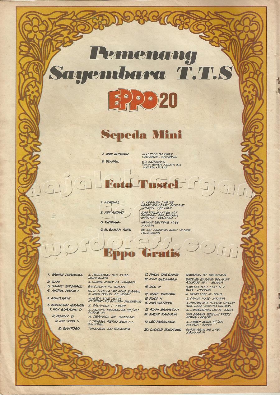 Pemenang Sayembara T.T.S. Eppo No.20
